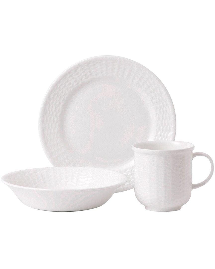 Wedgwood Nantucket Basket Breakfast Set for Two (Set of 6), White