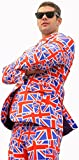 Opposuits Mens 'Mr. Jack' Flag of England Party Suit and Tie by