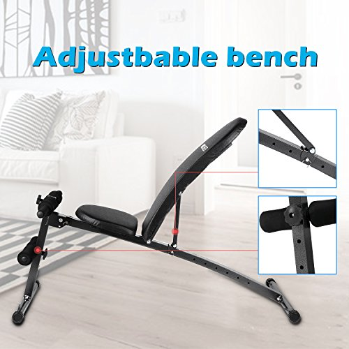 Ancheer Weight Bench Adjustable Sit Up Bench Incline