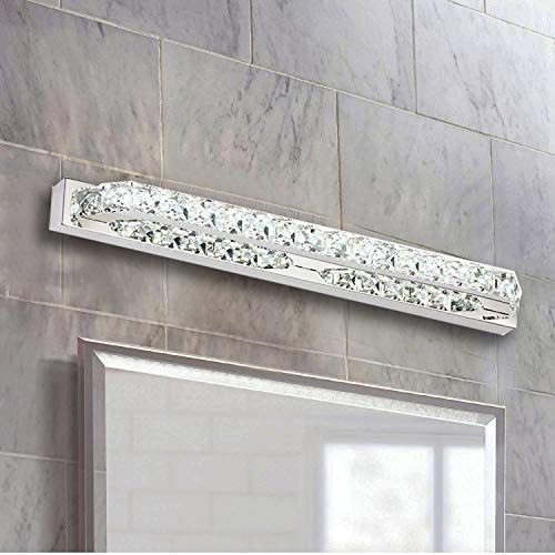 LED Vanity Lights,Ganeed Crystal Wall Mirror Vanity Light Fixtures for Bathroom Vanity Bedroom Lighting 22 inch 14W Cool White