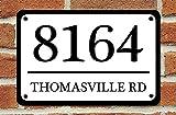 SWQAA Customized Home Address Sign Aluminum Metal