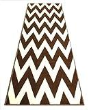 Chevron Runner Rug 32 Inch X 7 Feet 4 Inch Design # S260 Chocolate