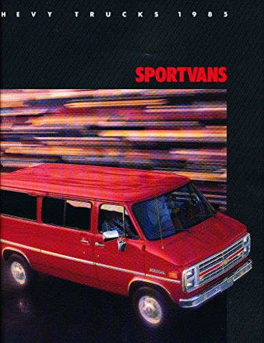 1985 Chevrolet SportVan Van Chevy 12-page Original Car Sales Brochure Catalog