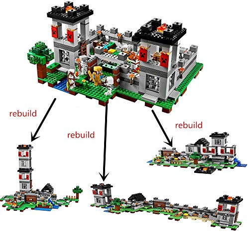 Best Quality 10472 minecrafted The Fortress Compatible with Block Set Building Brick My World Toy for Kids legoingly