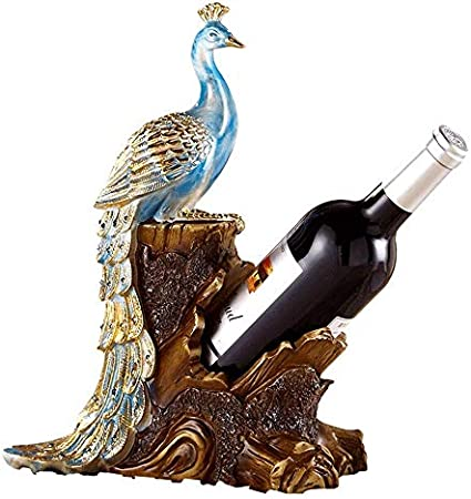 Estantes Para Copas Pavo Real Estante Para Vino Decoración Accesorios Para El Hogar Sala De Estar Mesa De Comedor Gabinete De Vino Muebles Familiares Artesanía Para La Cocina Bar Comedor O En Cualqui