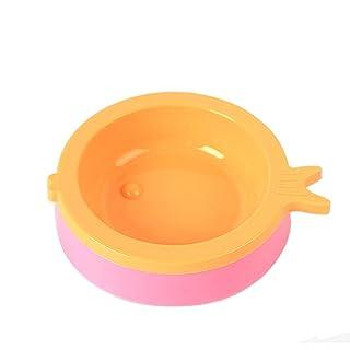 Cupcinu Cuenco de Mascota Comedero para Perros y Gatos Cuenco de Agua de plástico Alimentacion tazón Base Antideslizante Diseño de la Forma de Pescado Color al Azar