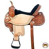 HILASON 14 15 16 in Flex Tree Western Horse Saddle American Leather Barrel Trail