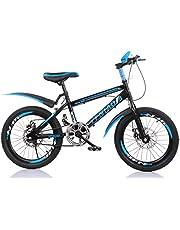 """YFNIAO Disc Brake Youth Mountain Bike Youth Mountain Bike 18"""", Blue, Size L"""