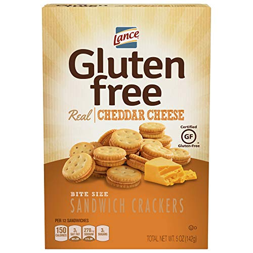 Lance Gluten Free Cheddar Cheese Sandwich Crackers, 5 Ounce (Pack of 4) (Best Cheese For Cheese And Crackers)