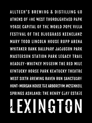 Lexington Print, Lexington Subway Sign Poster, Kentucky Wall Art, Decor, Canvas, Gift, Bus Scroll, Typography, Minimal, Custom, Personalized