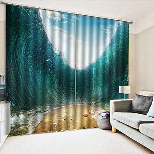 QinKingstore 色とりどりの海水デジタル印刷防水カビシャワーCurtain150 * 166
