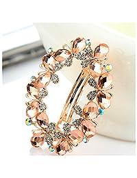 Casualfashion Bridal Hair Jewelry Austria Rhinestone Crystal Hair Barrette for Women Clips Hair Hairpins