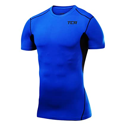 TCA Pro Performance Womens Short Sleeve Baselayer Running Top Blue