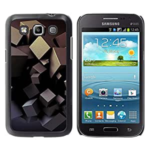 MOBMART Carcasa Funda Case Cover Armor Shell PARA Samsung Galaxy Win I8550 - Dark Steel Boxes