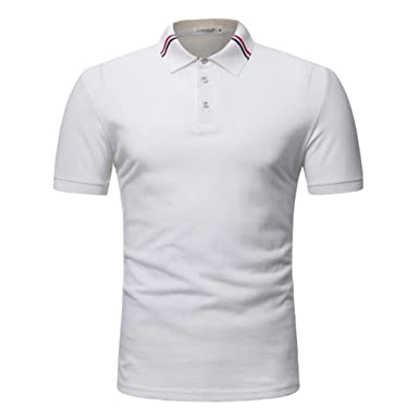 Camisas De Polo Hombres Camiseta Verano De Corta De Básica Manga ...