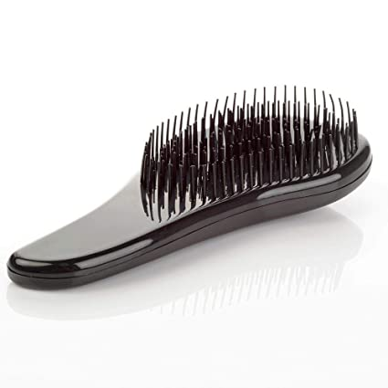 Magic Handle Tangle Detangling Comb Shower Hair Brush detangler Salon Styling Tamer exquite cute useful Tool Hot hairbrush (Black)