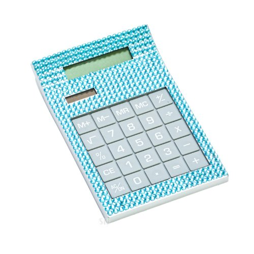 Blue Crystal Desk Calculator