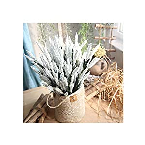 Elevin(TM) 12Heads Artificial PE Lavender Fake Flower Wedding Bouquet Party Home Decor (A White) 67