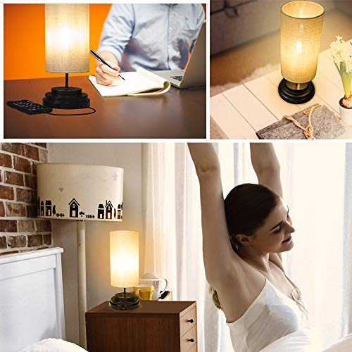 AULTRA LED Touch Table LAMP - Table Lamp Shade with Dimmable Touch Control Features & Phone Charging Port Used for… 2