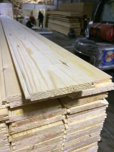 Pine Timber Vgroove Cladding 13x110mm 5 x 2.25M Length Henshaw Timber