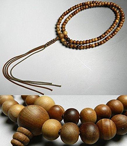 男性用 お数珠 インドネシア白檀 共仕立て 臨済宗 尺二 数珠 念珠 B016XR45I6