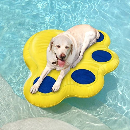 Paws Aboard Dog Pool Float (Large: 50 x 39) by Doggy Lazy Raft