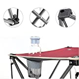 AOTU Outdoor Leisure Folding Table Desk And Chair 5 Pieces set by Dressffe (red)