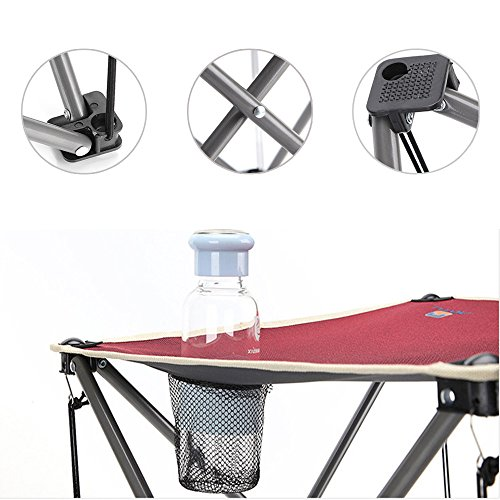 AOTU Outdoor Leisure Folding Table Desk And Chair 5 Pieces set by Dressffe (red) by Dressffe