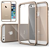 iPhone 5S Case, Caseology® [Fusion Series] Scratch-Resistant Clearback Cover [Beige] [Dual Bumper] for Apple iPhone 5S / 5 (2013) & iPhone SE (2016) - Beige