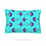 KESS InHouse Ivan Joh ''Turquoise Dance'' Teal Purple Pillow Sham, 30'' x 20''
