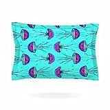 KESS InHouse Ivan Joh ''Turquoise Dance'' Teal Purple Pillow Sham, 40'' x 20''