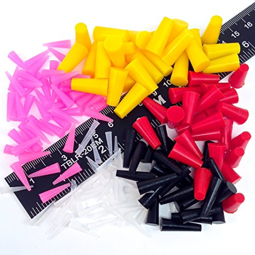 175Pc High Temp Silicone Rubber Plug Kit Powder Coating Custom Paint Masking Tapered - Rubber Plug Kit