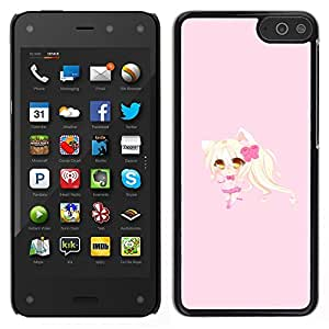 Impact Case Cover with Art Pattern Designs FOR Amazon Fire Phone Blonde Anume Character Cat Ears Girl Betty shop
