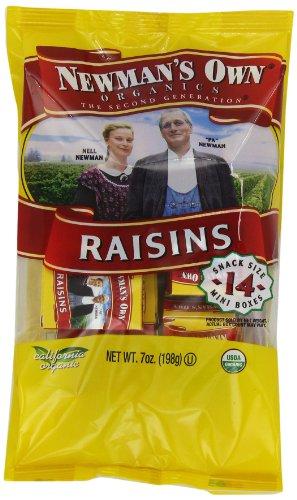 Newman's Own Organics Raisins, 0.5-Ounce, 14-Count Mini Boxes (Pack of (Newmans Own Rice)