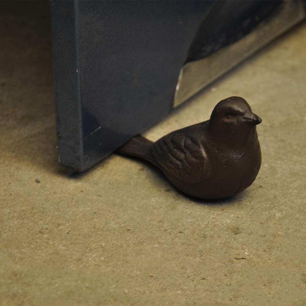 Vosarea Cast Iron Bird Door Stop Decorative Rustic Door Stop Heavy Duty Wedge Door Stop Home Office