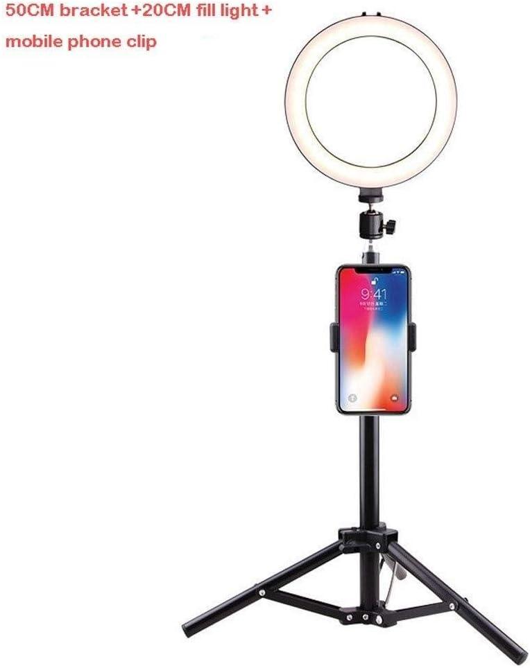 Size : C SUYIDAN Ring Light 20CM Desktop//Floor Stand Ring Light USB Power Supply 3 Light Mode Fill Light Anchor Selfie Beauty Light Ringlight