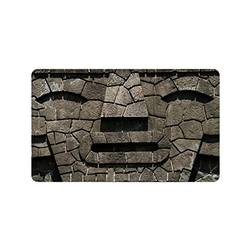 Special Design Custom stone face shape Personalized Non-Slip Machine Washable Bathroom Indoor/Outdoor Doormat 30 by 18 - Shape To Face How Tell Your