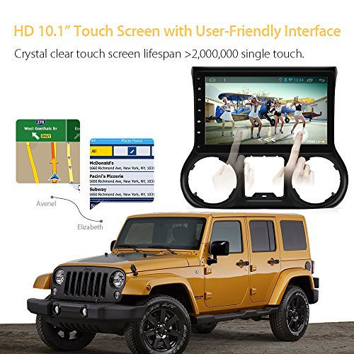AIMTOM AMJK-101AD 2015-2018 Jeep Wrangler JK In-dash GPS Navigation Android Stereo Bluetooth A2DP 10.1 Inch HD Touch Screen AV Receiver FM AM Radio Multimedia Player Built-in Wi-Fi Infotainment System by AIMTOM (Image #5)