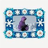 Fun Express Snowman and Snowflakes Photo Frame Magnet Craft Kits (Makes 12)