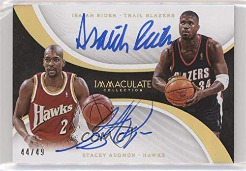 Isaiah Rider; Stacey Augmon #44/49 (Basketball Card) 2017-18 Panini Immaculate Collection - Dual Autographs - Dual Riders Sport