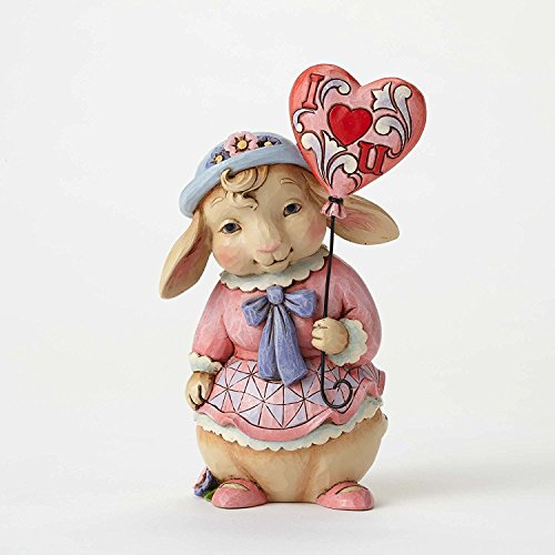Jim Shore HWC Love is in The Air Bunny with Balloon Valentines Figurine 4054533