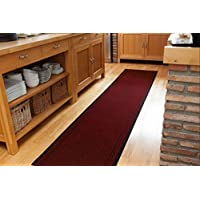 Extra Long Non Skid Red Hallway Entance Runner Mats - Sold And Priced By The Foot - 2ft 2' Wide