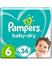 Pampers Baby-Dry Tape Diapers (13kg-18kg) Size 6 Junior, 34 count