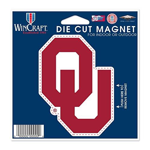 - WinCraft NCAA University of Oklahoma Die Cut Magnet, 4.5