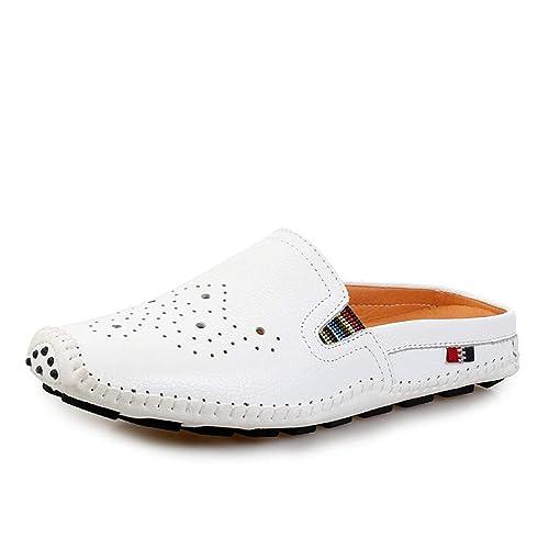 Zapatos de Hombre Cuero Medias de Primavera y otoño Mocasines Mocasines de holgazán Zapatos con Cordones Zapatos con Orificio 2018 Zapatos de Moda Casual de ...