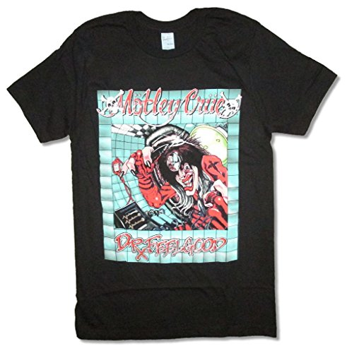 Motley Crue Doctor Feelgood Office Rx Black T Shirt Tommy Lee (XS)