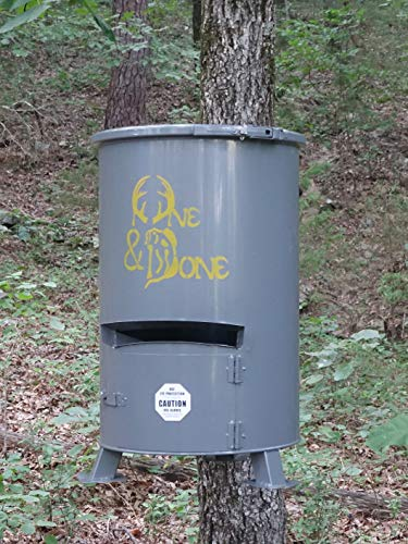 - One and Done Game Feeder - Loads 130lbs, 250 lbs, 500 lbs Feed (30 Gallon Scout Game Feeder)