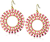 Trina Turk Sunburst Gold and Hot Pink Earrings