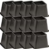 Rose Healthcare (Set/12) 4'' Tall Bed Or Chair Risers - Gives Additional Height To Furniture