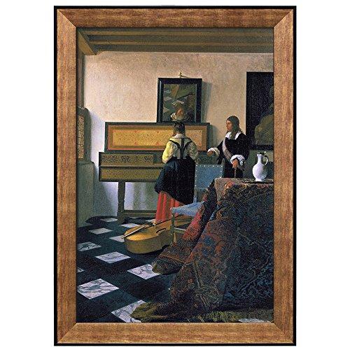 The Music Lesson by Johannes Vermeer Framed Art